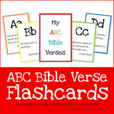 abc bible verse flashcard printables teaching god u0027s word