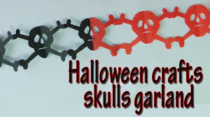 crafts for halloween skulls garland halloween decorations
