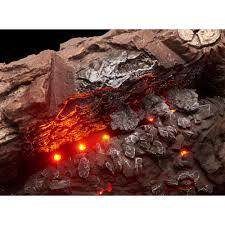 emberglow savannah oak 30 in vent free propane gas fireplace logs