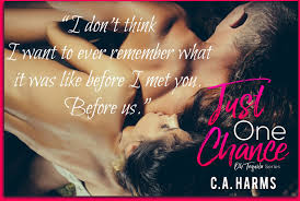 just one chance by c a harms blog tour u2013 another book hangover
