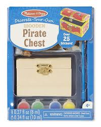 amazon com melissa u0026 doug decorate your own wooden pirate chest