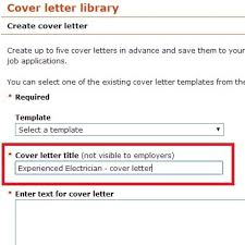 title of cover letter