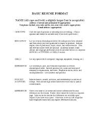 resume experience chronological order or relevance theory exles of experience for resume