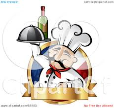 wine clipart royalty free rf clipart illustration of a pleasant chef holding