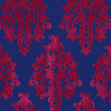 Furniture Upholstery Fabric by Cobalt Blue Velvet Damask Upholstery Fabric For Furniture