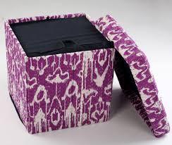 Purple Storage Ottoman Storage Ottoman Cube Editeestrela Design