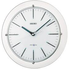 seiko clocks space link wall clock radio controlled qxz003s