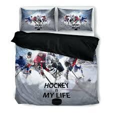 Hockey Bedding Set Duvet Cover Hockey Duvet Cover Nhl Covers Hockey Duvet Cover