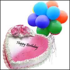 deliver birthday cake and balloons send blown balloons combo gifts to hyderabad warangal karimnagar