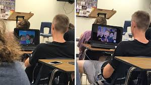 this student who shared his laptop with a friend during class