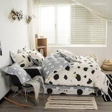 svetanya cotton bedlinen milk cow print bedding sets duvet cover