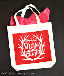 craftaholics anonymous festive christmas gift bag with free cut