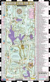 Manhattan New York Map by Streetwise Central Park Map Laminated Pocket Map Of Manhattan