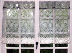Kitchen Sheer Curtains by White Kitchen Curtain Linen Lace Valance Sheer Window Topper