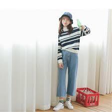 High Waist Bootcut Jeans 2017 New Korean Women U0027s Slim High Waist Boot Cut Jeans Fashion