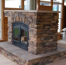 living room creative fireplace inserts with stacked stone and