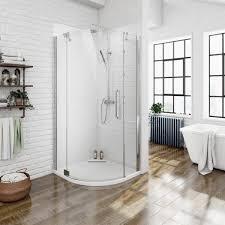 800 Shower Door Mode Luxury 8mm Left Handed Frameless Hinged Door Quadrant Shower