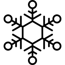 snowflake thin outline icons free download