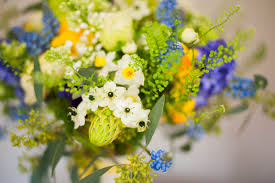 Blue Wedding Flowers Bristol Wedding Flowers Spring Yellow And Blue Wedding The