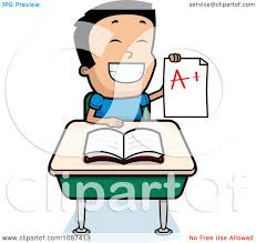 Raising A Desk Clipart Smart Boy Raising His Hand At A Desk Royalty Free