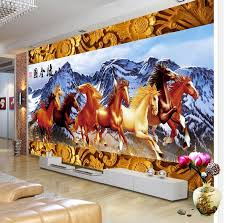 online get cheap horse wall murals aliexpress com alibaba group woodcarving border snowy eight horses tv backdrop stereoscopic 3d wallpaper 3d wall murals wallpaper china
