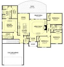 traditional style house plan 4 beds 2 00 baths 1875 sq ft plan