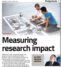 write a scientific paper graham kendall media coverage measuring research impact