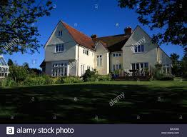 farm style house a modern house in a traditional essex farmhouse style stock photo