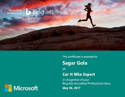 bing ads certification exam question answer sheet 2017 sagar gola