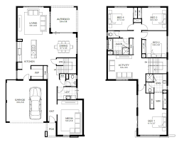 Modern Two Story House Plans Valuable Idea 4 Bedroom House Plans Double Story 2 Modern Double