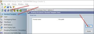 solidworks using design checker to change sheet formats