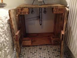 bathroom cabinet cupboard below sink from pallet timber pallet