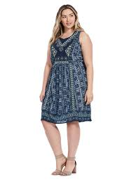 lucky brand embroidered printed dress gwynnie bee