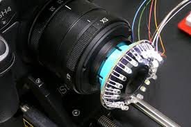 macro lens ring light photographic lighting for macro images robot room