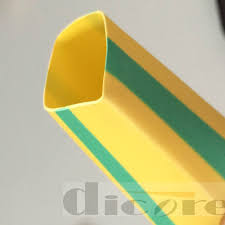 yellow and green stripe shrinkable cable terminal protective