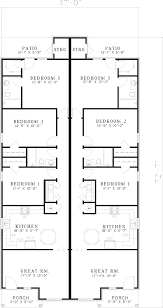 floor plans for narrow lots multi family house plans narrow lot simple multi family house