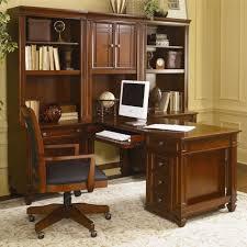 modular home office desk wynwood artisan 7pc modular desk wall unit in auburn cherry for