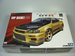 nissan skyline r34 paul walker nissan skyline gt r r34 top secret aoshima car model kit com