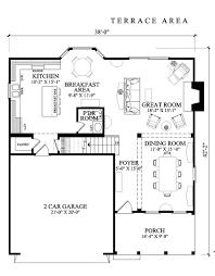 first floor plan ranch house 54066 move garage back 2 bednarrow