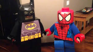 halloween costume spiderman lego batman and spider man halloween costumes 2013 youtube