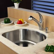 Faucet And Soap Dispenser Placement Kraus Stainless Steel Pull Out Kitchen Faucet With Soap Dispenser