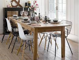 Scandi Dining Table Combine Modern And Rustic Furniture For A Laid Back Dining Room