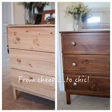 Ikea Furniture Hacks by Simple U0026 Chic Ikea Tarva Makeover With Gel Stain Trim U0026 Mercury