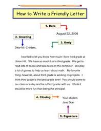 this handout outlines the 5 parts of a friendly letter heading