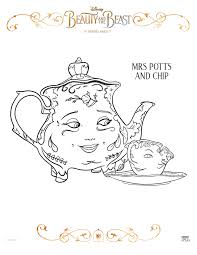 beauty and the beast free coloring sheets for kids