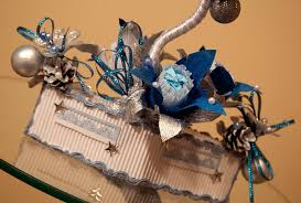 diy gift idea glass tree ornaments decoupage paper