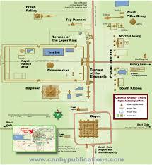 Map Central Park Angkor Archeological Park Central Angkor Thom