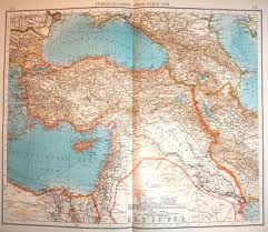 Map Of Ottoman Empire Andrees Handatlas 1914 The Ottoman Empire Before Its Downfall In