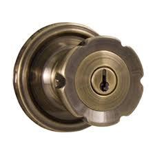Antique Door Hardware Weslock Traditionale Antique Brass Keyed Entry Eleganti Knob