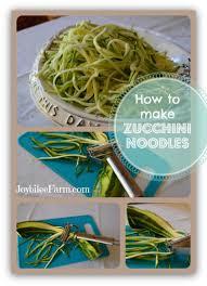 how to make low carb zucchini noodles joybilee farm